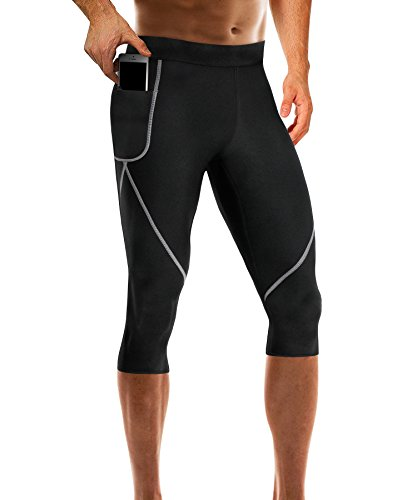 4cd104190a001 Wonderience Men Neoprene Slimming Pants for Weight Loss Hot Thermo Sauna  Sweat Capri Fitness Workout Body Shaper. Slim and firm your thighs to get a  good ...