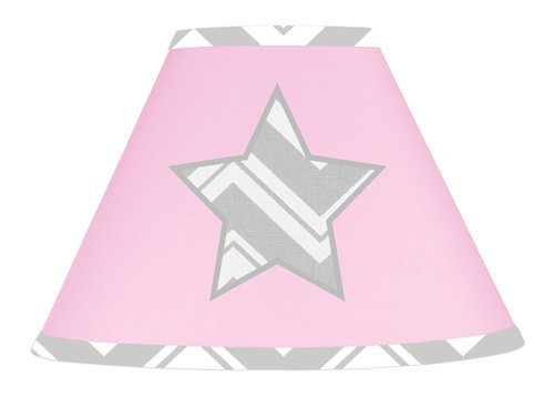 Sweet Jojo Designs Pink and Gray Chevron Zig Zag Lamp Shade