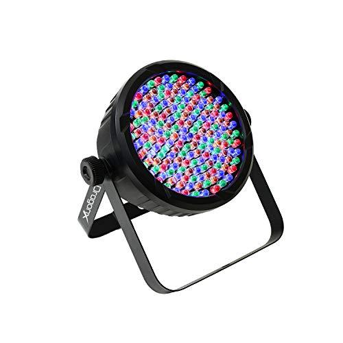 DragonX DJ Lighting – RGB LED Lights w/Amber & White RGBA – Slim LED 64 Par Can Wash Light 177 10mm Party Light for DJ Lighting, Uplighting, Wedding Lights, Event Lights, Stage Lights, DMX 512