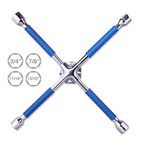 CARTMAN 18″ Universal Anti-Slip Lug Wrench, Cross Wrench
