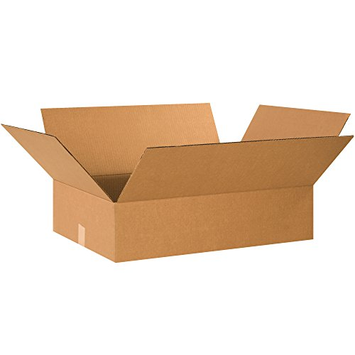 BOX USA B26208 Corrugated Boxes, 26″ x 20″ x 8″, Kraft Pack of 15