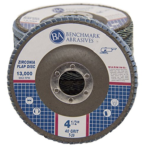4.5″ x 7/8″ Premium Zirconia Flap Disc Grinding Wheel 40 Grit Type 29-10 Pack