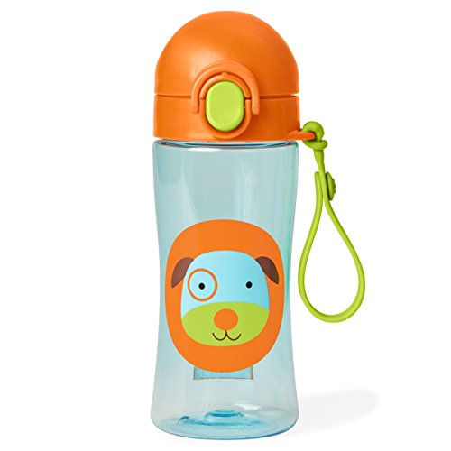 Skip Hop Zoo Lock-Top Sports Bottle, Dog, Multi