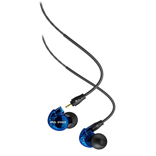 MEE Audio M6 PRO Noise-Isolating Limited Edition Blue in-Ear Monitors w/Detachable Cables