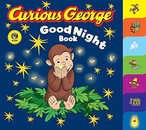 Curious George Good Night Book CGTV Tabbed Board Book