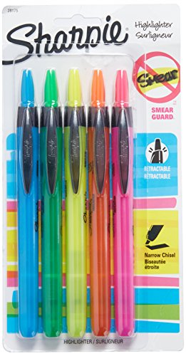 Sharpie Retractable Highlighters – SAN28175PP