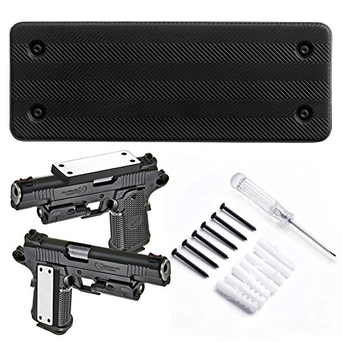 Kmasic Compatible Gun Magnet Mount, Rubber Coated 35Lbs Rated Concealed Holster for Handgun, Rifle, Shotgun, Pistl, Revolver, Car, Truck, Wall, Bed, Desk