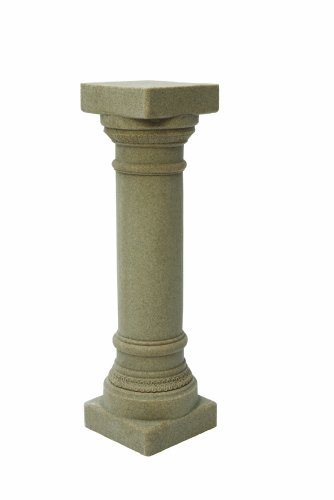 "EMSCO Group Greek Column Statue – Natural Sandstone Appearance – Made of Resin – Lightweight – 32"" Height"