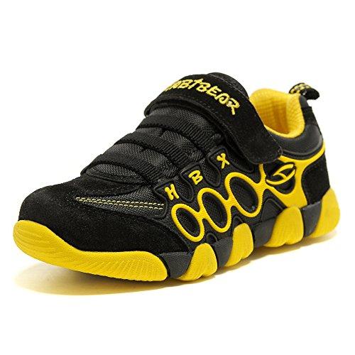 HOBIBEAR Boys Running Sneakers Hook and Loop Girls Light Weight Sport Shoes