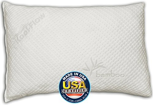 Snuggle-Pedic Toddler and Kids Pillow | Kool-Flow Ultra Luxury Bamboo Cover with Shredded Memory Foam | All U.S.A. Made | Fits Children for Bed Sleeping, Reading and Travel