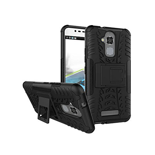 Asus ZenFone 3 Max ZC520TL Case, Starhemei Slim Hard PC Armor Hybrid Bumper TPU Soft Drop Protection Defender Case Cover For Asus ZenFone 3 Max 5.2 Inch Armor-Black