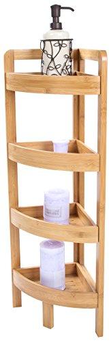 31.5″ 4 Tier Bamboo Corner Storage Shelf By Trademark Innovations