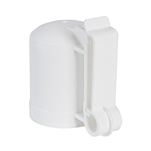 Zareba ITCPW-Z T-Post Safety Cap and Insulator, White, 10 per Bag