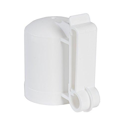 Zareba ITCPW-Z T-Post Safety Cap and Insulator, White, 10 per Bag