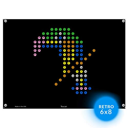 lllumiPeg Lite Brite Magic Screen Refills – Zoo Animal Art Templates 12 Sheets
