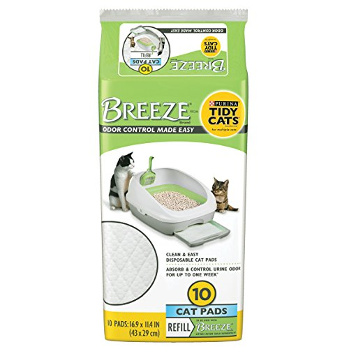 Purina Tidy Cats Cat Pads, BREEZE Refill Pack – 6 10 ct. Pouches