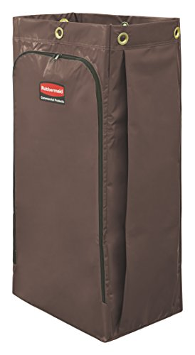 Rubbermaid Commercial High Capacity Cleaning Cart Bag, 34 Gallon, Brown, 1966885