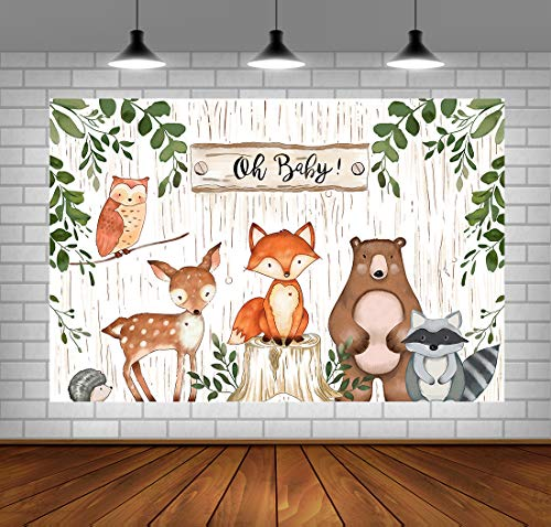Top 10 Woodland Animal Baby Shower Decorations – Photographic Studio Photo Backgrounds