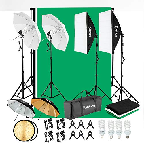 Top 10 Greenscreen Background Kit – Lighting Soft Boxes
