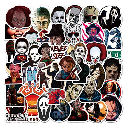 Top 10 Horror Movie Stickers – Laptop Skins & Decals
