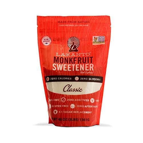 Lakanto Monkfruit 1:1 Sugar Substitute | 3 Ib NON GMO Classic White
