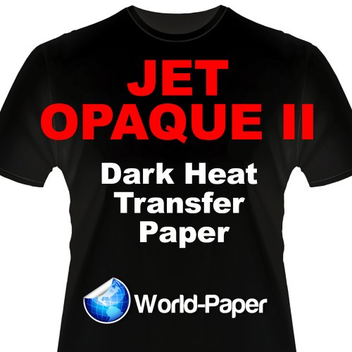 IRON ON HEAT TRANSFER PAPER JET OPAQUE II 8.5 x 11 CUSTOM PACK 25 SHEETS