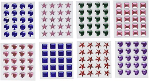 Adhesive Back Craft Jewels 500 Assorted Pieces