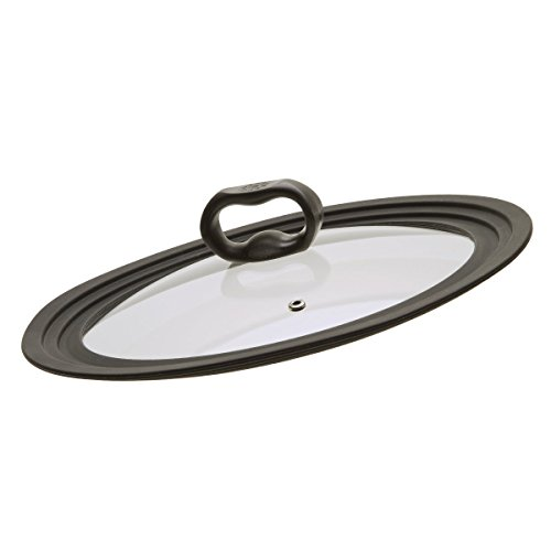 Graduated Rims fit 9.5 inch, 10 inch, 12 inch Cookware – Ecolution Universal Lid for Pots and Pans, Vented Tempered Glass