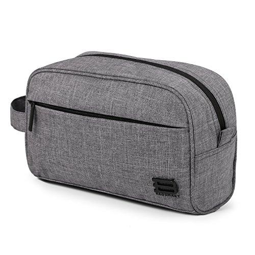 BAGSMART Toiletry Travel Bag Dopp Kit for men and women, Grey