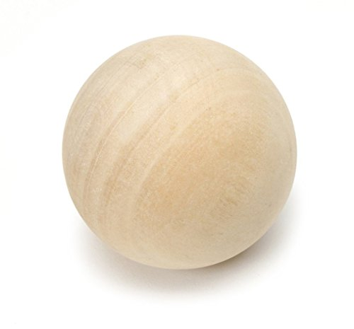 """1.5"""" Wooden Round Balls, Bag of 10 Unfinished Wood Round Balls, Hardwood Birch Sphere Orbs For Crafts and DIY Projects, Woodworking 1-1/2"""" Diameter."""