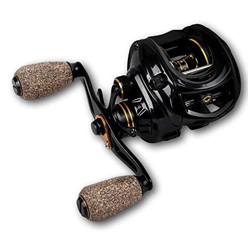Fiblink Baitcasting Fishing Reel 9+1 Ball Bearings Casting Reel Right/Left Handed Baitcaster Left