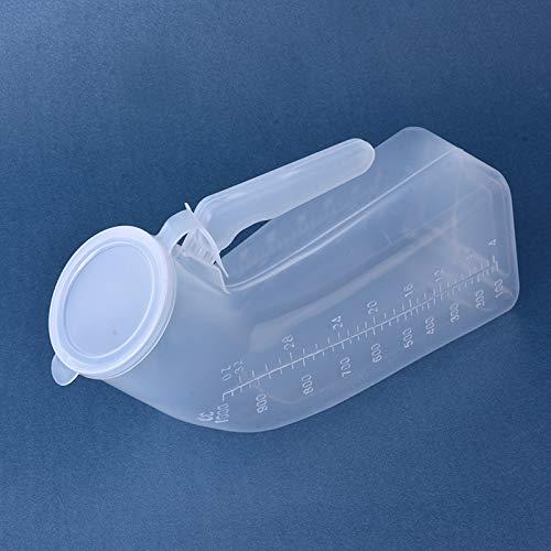 Gloveleya Male Portable Travel Urinals Men's Potty Hospital Plastic Pee Bottle 1000ML …