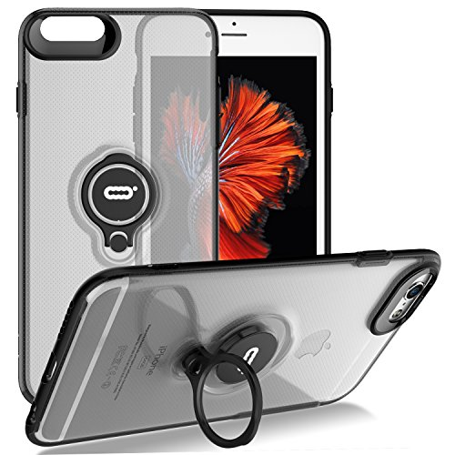 iPhone 6s Plus/iPhone 6 Plus Crystal Case with Ring Holder Kickstand, 360 Degree Rotating Ring Holder Grip Case Ultra Slim Thin Hard Cover for iPhone 6s Plus / 6 Plus5.5inch Clear