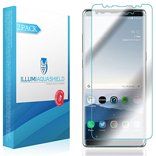 Galaxy Note 8 Screen Protector 2-Pack, ILLUMI AquaShield Full Coverage Screen Protector for Galaxy Note 8 HD Clear Anti-Bubble Film