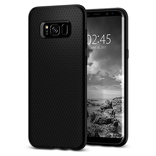 Black – Spigen Liquid Air Armor Galaxy S8 Plus Case with Durable Flex and Easy Grip Design for Samsung Galaxy S8 Plus 2017