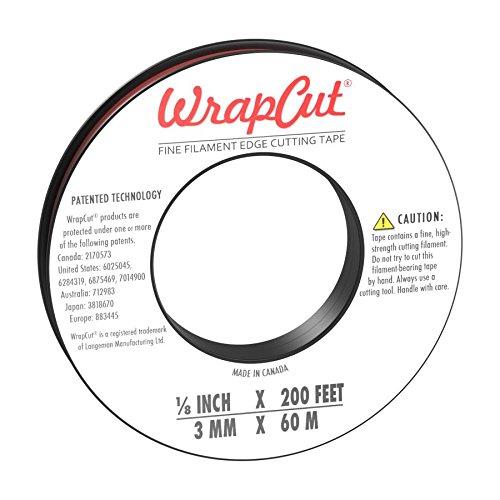 WrapCut, Edge Cutting Tape, 1/8-Inch X 200 Feet, 1 Roll, 883662001260