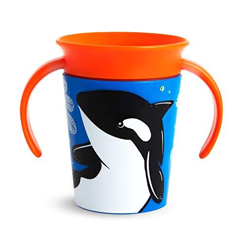 Munchkin Miracle 360 WildLove Trainer Cup, 6 Ounce, Orca