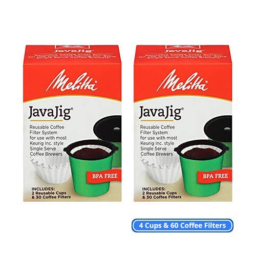 OKSLO 63228 javajig starter kit 2-pack single serve hine coffee filters kit